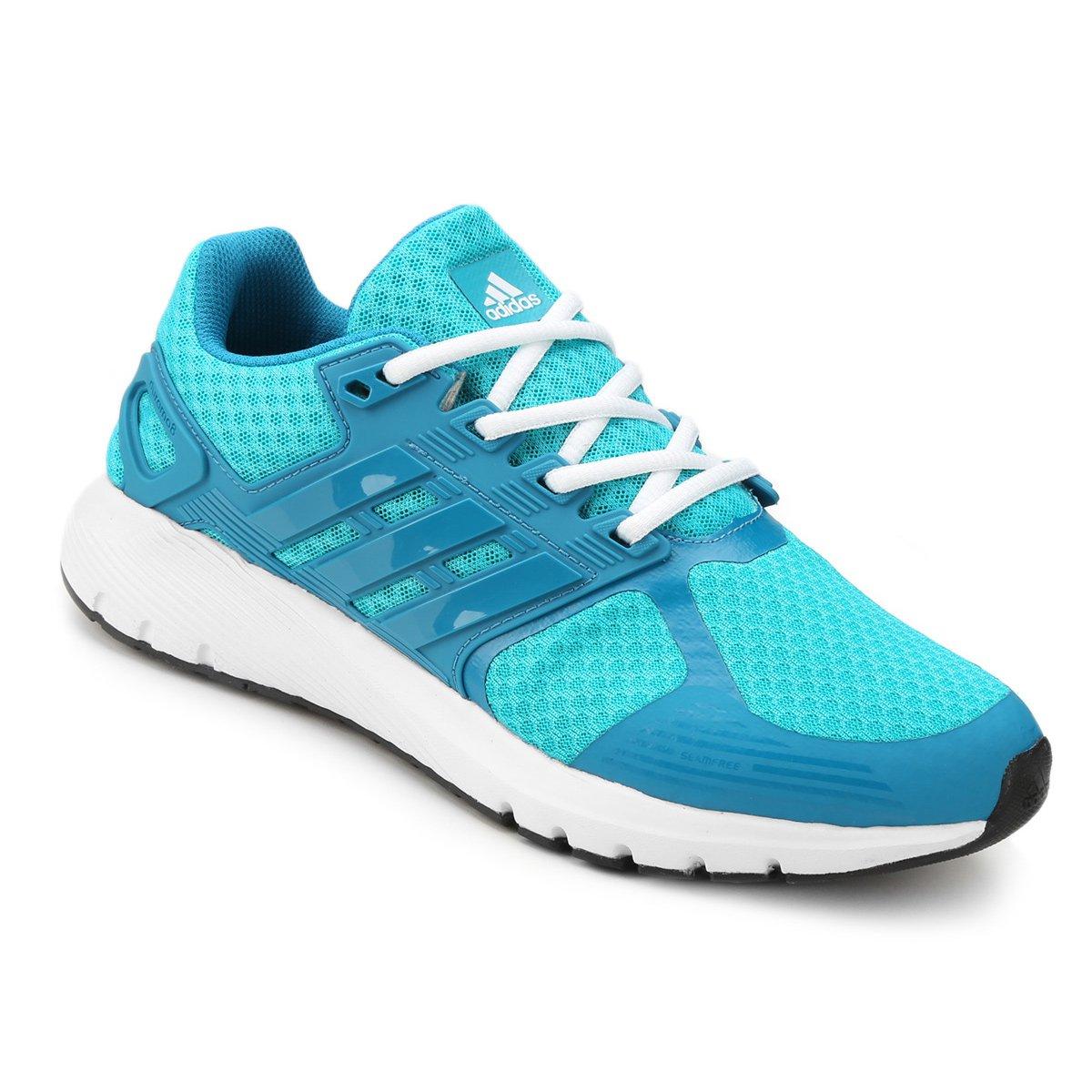 Tênis Adidas Duramo 8 Feminino - Azul Piscina e Azul Claro - Compre ... 9ef4fdcffda68