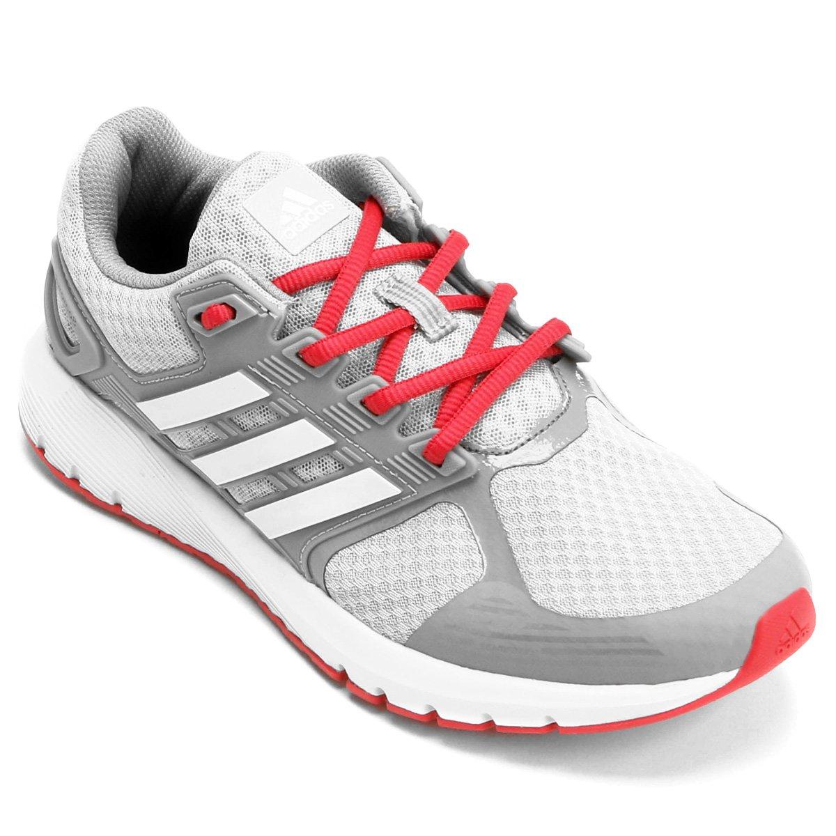 f8aa826d97e Tênis Adidas Duramo 8 Feminino - Cinza e Vermelho - Compre Agora ...