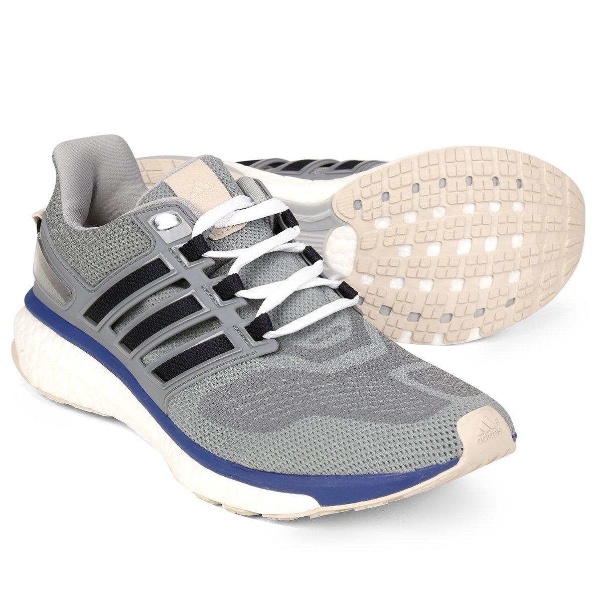 Tênis Adidas Energy Boost 3 Masculino - Cinza e Azul - Compre Agora ... c51b59d541b9e