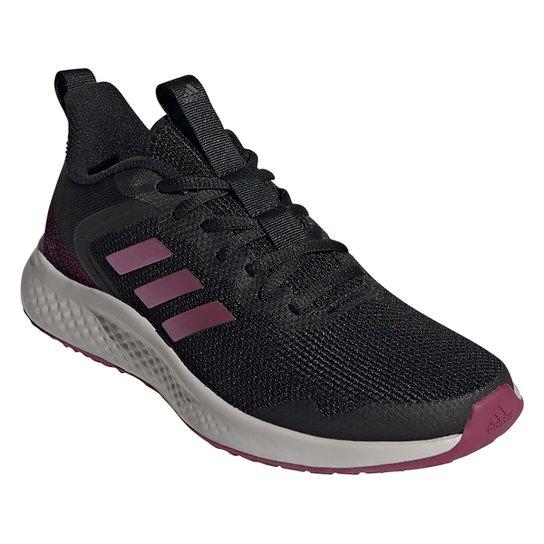 Tênis Adidas Fluidstreet Feminino - Preto+Roxo