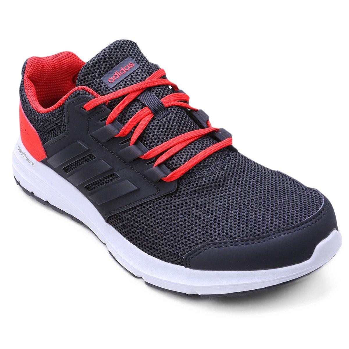e210a7cbfa8 Tênis Adidas Galaxy 4 Masculino - Chumbo e Vermelho - Compre Agora ...