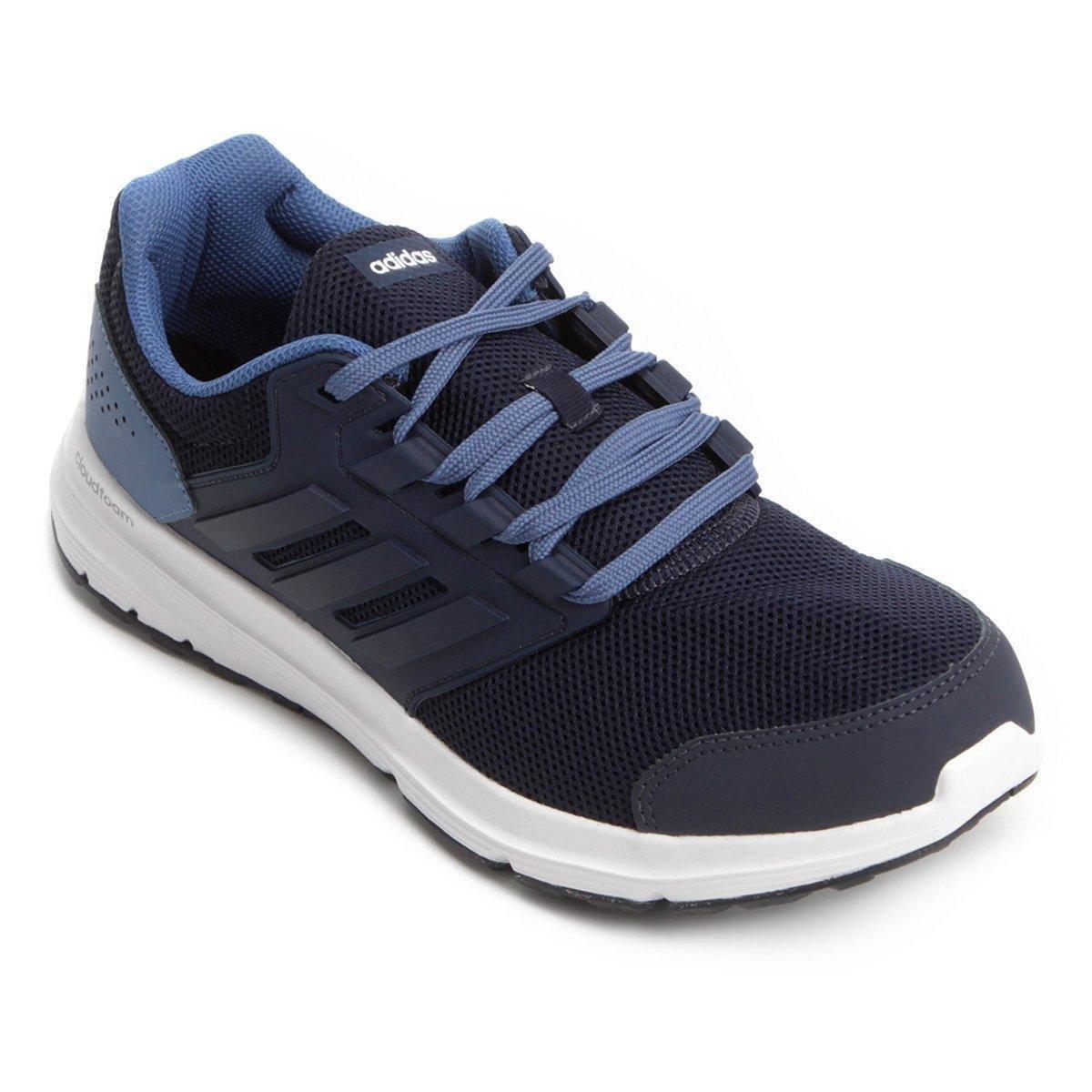 Tênis Adidas Galaxy 4 Masculino - Marinho e Azul - Compre Agora ... 98dc77bcbed0d
