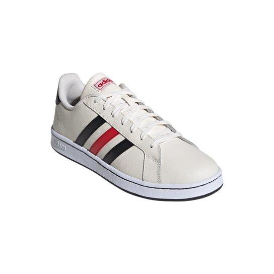 Tênis Adidas Grand Court Masculino - Branco+Preto