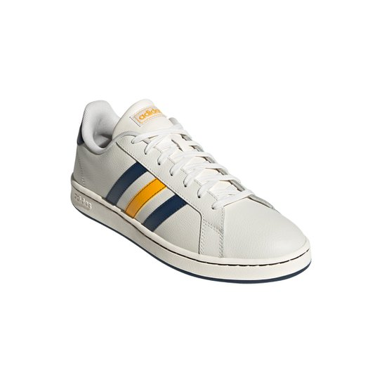 Tênis Adidas Grand Court Masculino - Branco+Amarelo