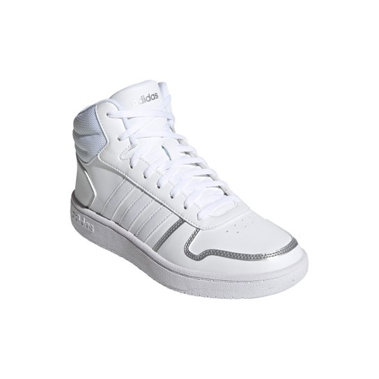 Tênis Adidas Hoops 2.0 Mid Feminino - Branco
