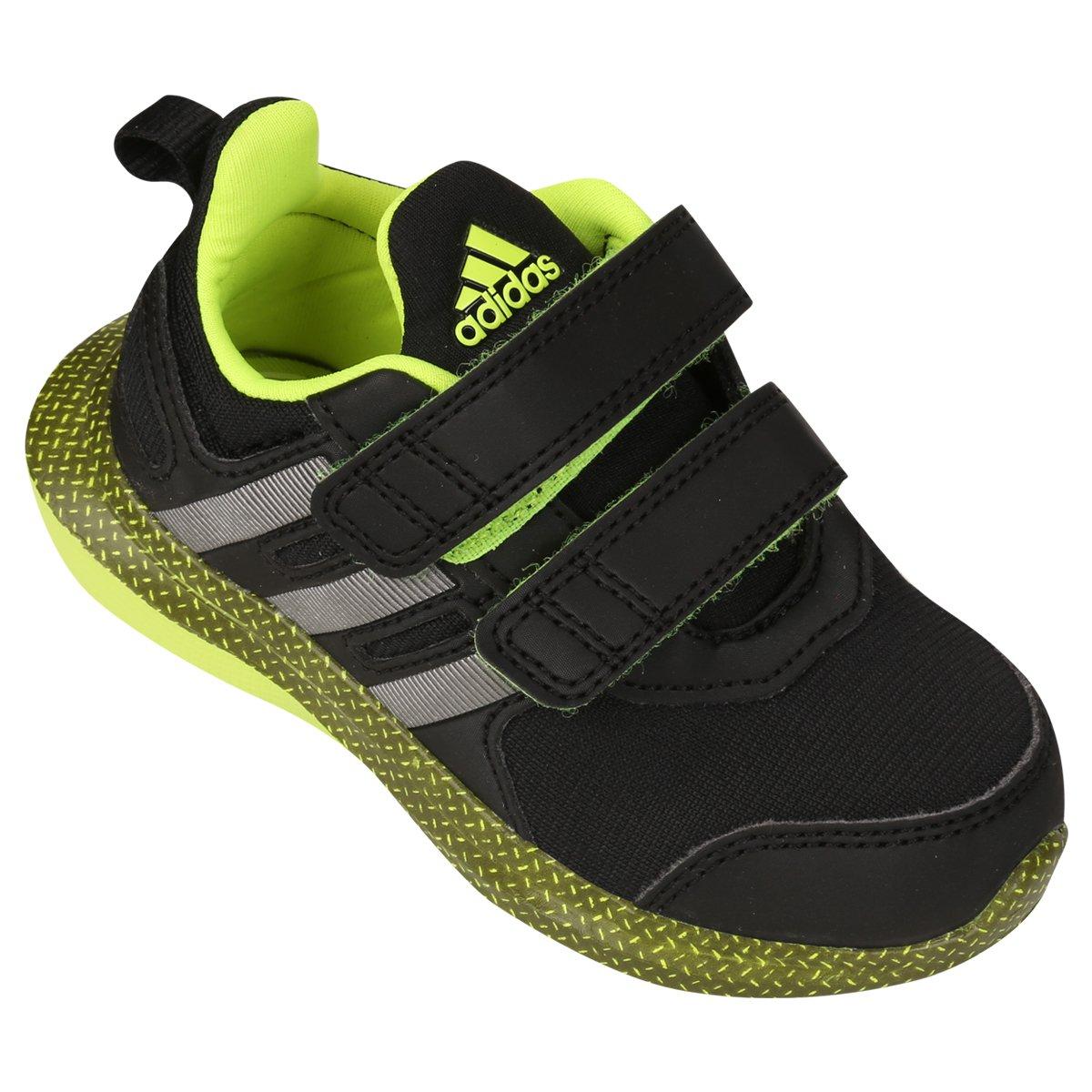Tênis Adidas Hyperfast 2 Cf Juvenil - Preto e Verde Limão - Compre ... a58af183650d5