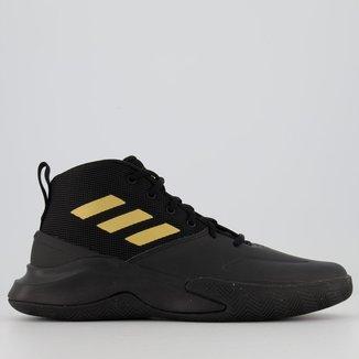 Tênis Adidas Own The Game Preto e Dourado