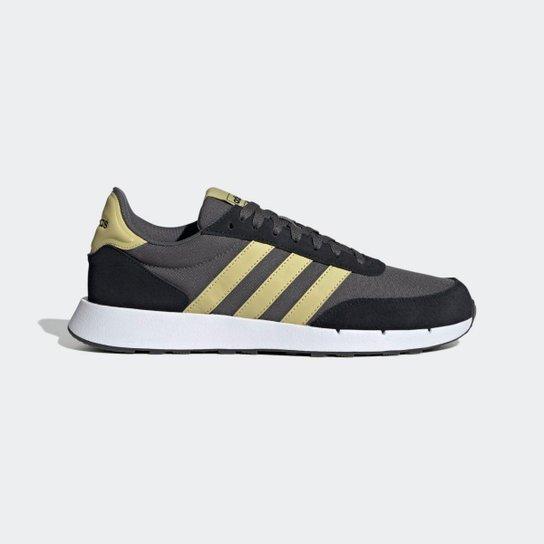 Tênis Adidas Run 60S 2.0 Masculino - Cinza+Dourado