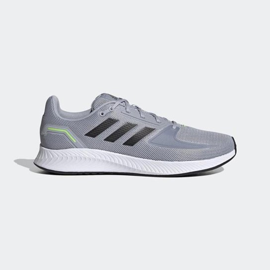Tênis Adidas Runfalcon 2.0 Masculino - Prata+Preto
