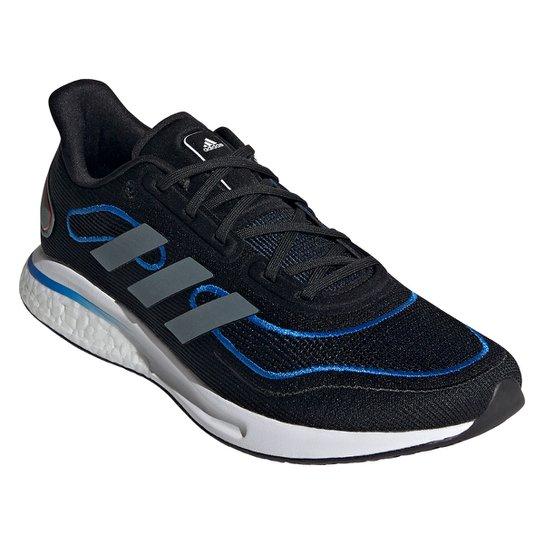 Tênis Adidas Supernova+ Boost Masculino - Preto+Azul