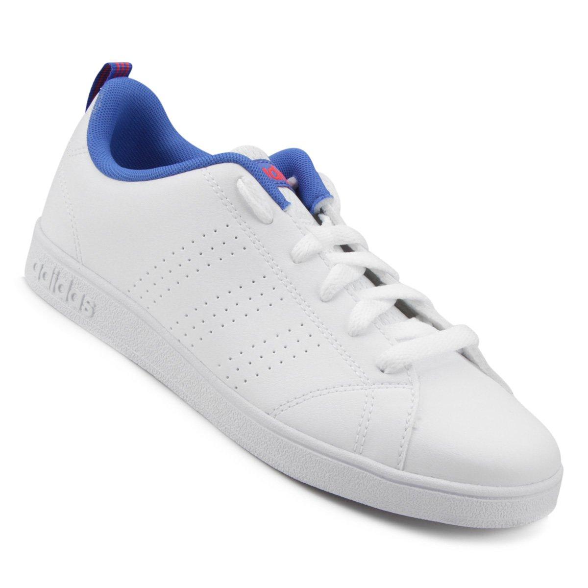 3a05b9214e5 Tênis Adidas Vs Advantage Clean K Infantil - Branco e Azul - Compre Agora