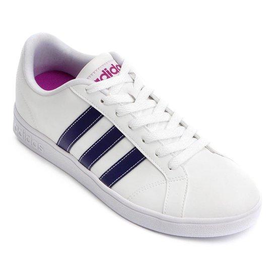 Tênis Adidas Vs Advantage Feminino - Branco+Roxo