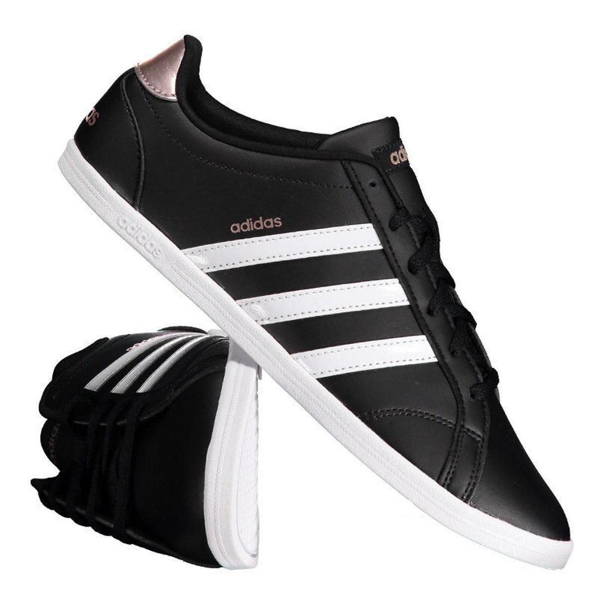 f7b93c577a Tênis Adidas Vs Coneo Qt Feminino - Preto - Compre Agora