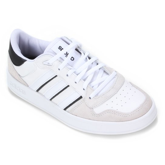 Tênis Couro Adidas Breaknet Plus Masculino - Branco