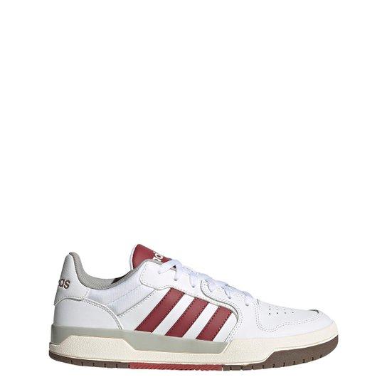 Tênis Couro Adidas Entrap Masculino - Branco+Vermelho