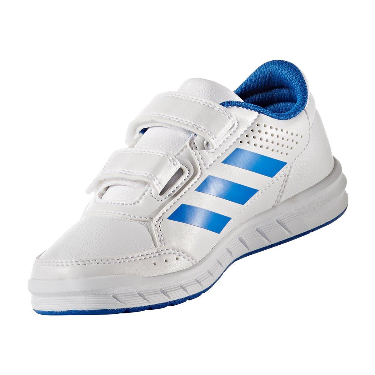 62aa332b4c1 Tênis Infantil Adidas Altasport Cf K Velcro - Branco e Azul - Compre Agora