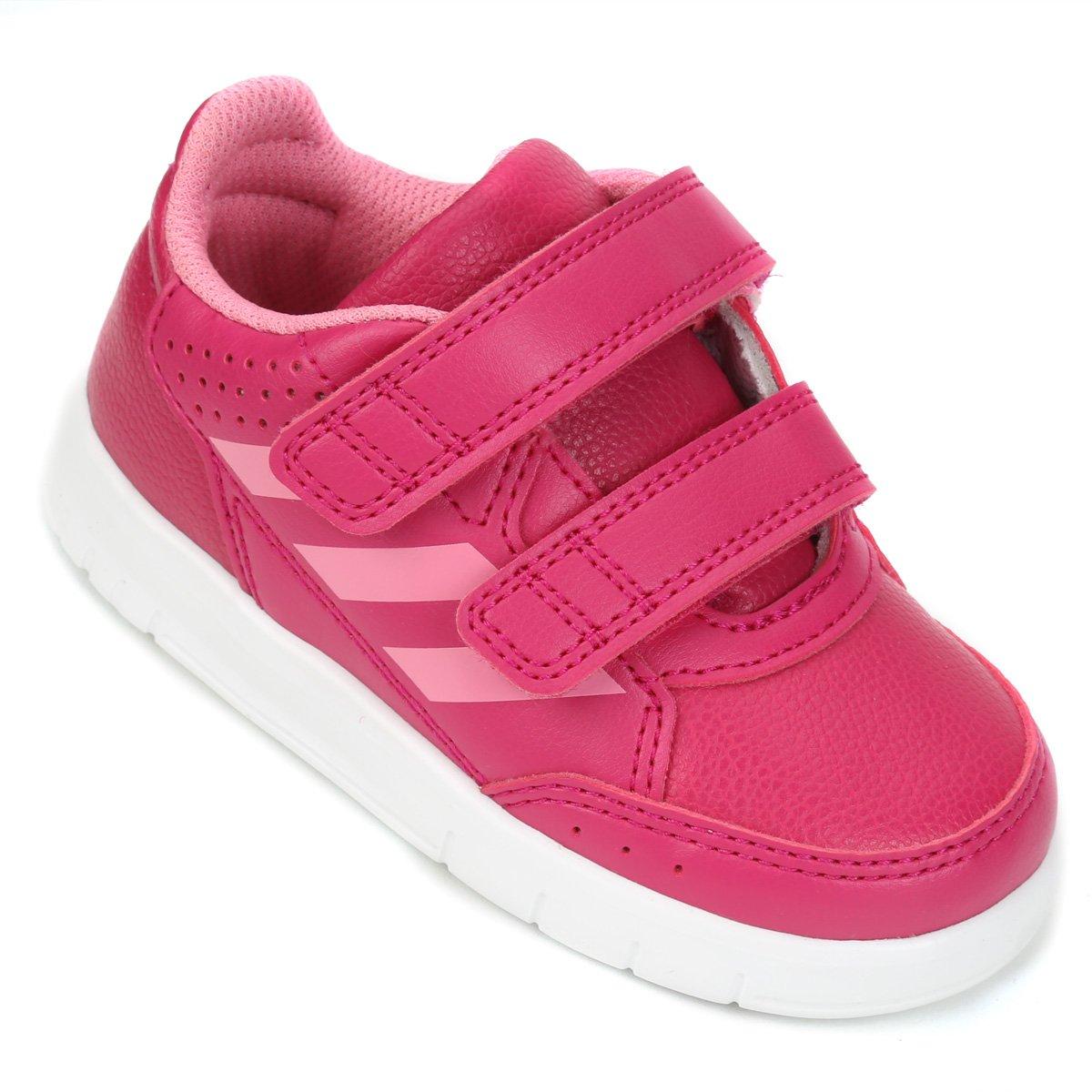 117d45474bb Tênis Infantil Adidas Altasport Cf Velcro - Pink e Branco - Compre Agora