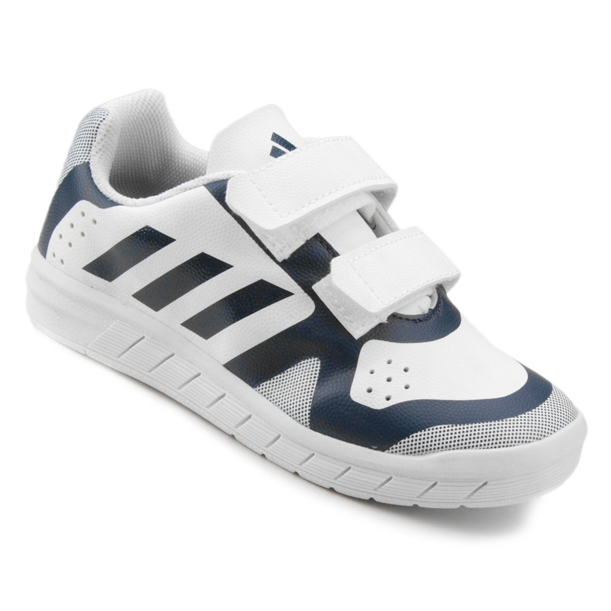b40222016 Tênis Infantil Adidas Quicksport Cf 2 C Velcro - Branco e Azul - Compre  Agora