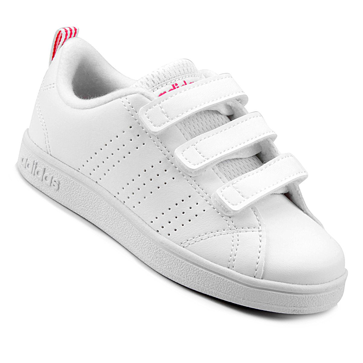 5a032d083 Tênis Infantil Adidas Vs Advantage Clean C - Branco e Rosa - Compre Agora