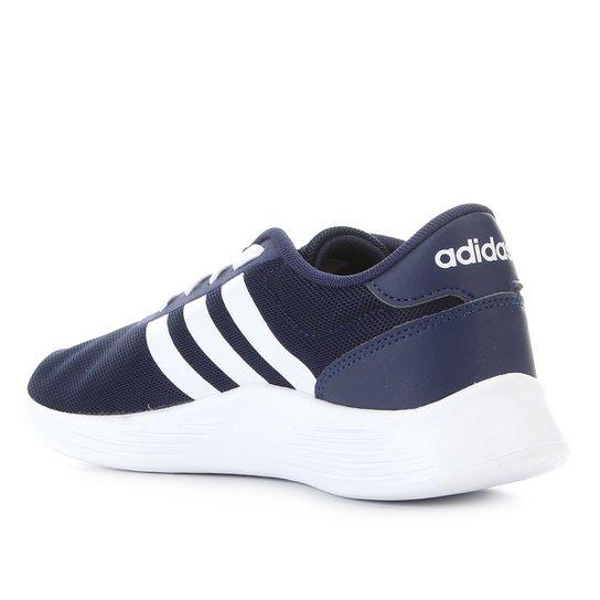 Tênis Juvenil Adidas Lite Racer 2 0 K - Azul+Branco