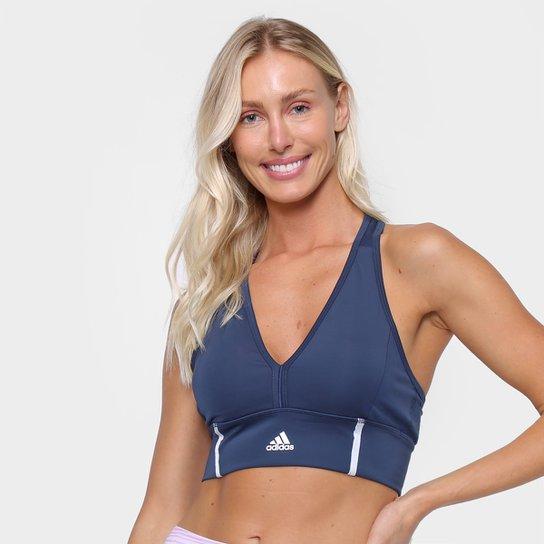 Top Adidas D2M Dance - Azul+Branco