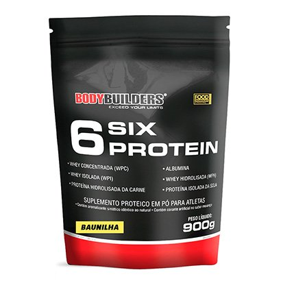 Whey Protein 6 Six Protein Refil Bodybuilders 900g