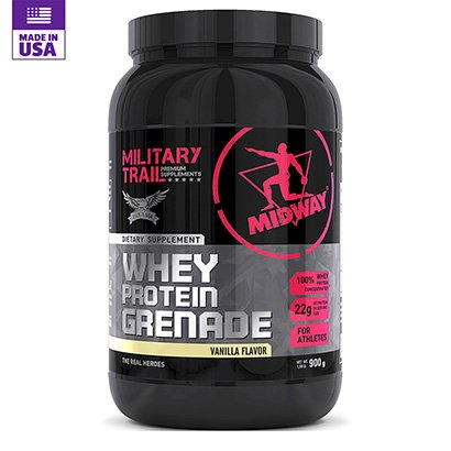 Whey Protein Military Trail Grenade 900g - Midway USA